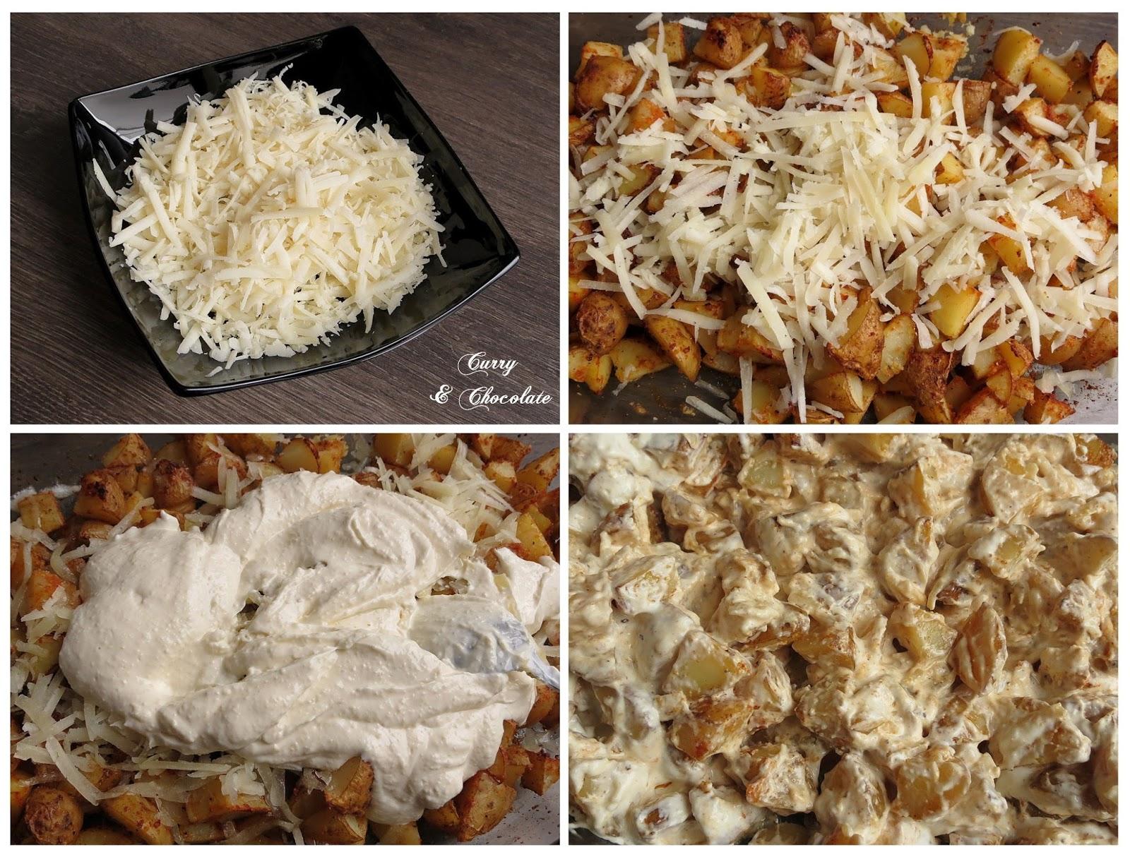 Mezclando las patatas