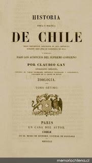 Zoología / por Claudio Gay. Paris : En casa del autor ; Chile : Museo de Historia Natural de Santiago, 1847-1854. 8 v.
