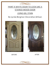 "PAINT A WHITE DOOR TO LOOK LIKE A STAINED WOOD DOOR~My ""How To"" eBook"