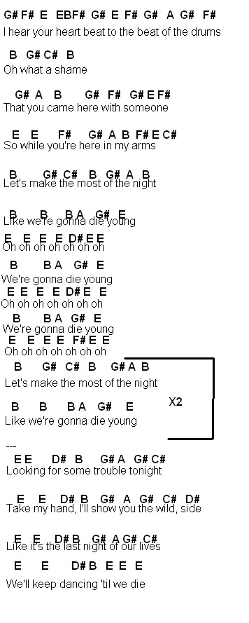 Flute Sheet Music: Die Young