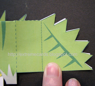 lizard cube pop up card