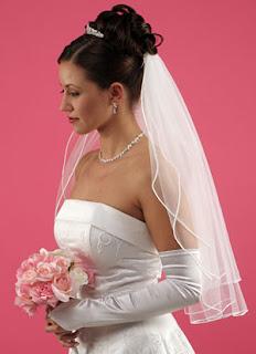 véu de noiva tamanho pelo cotovelo