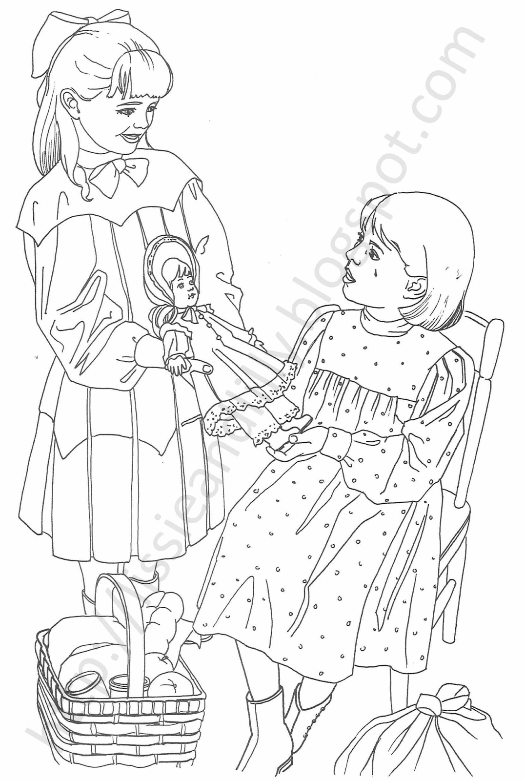 Lissie  Lilly Coloring Pages