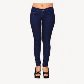Buy Ladies Jeans Sky Blue Colour At Flat 67% off Rs. 450 only at ShopClues.