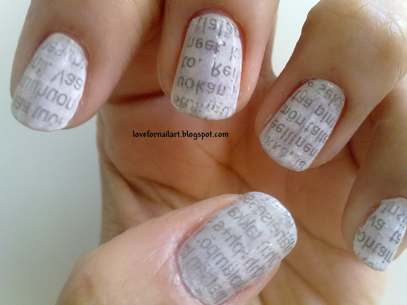 Newspaper Nail Art It Was Requested By One Of My Friend On Facebook Page Is Easy To Get This Look And Hope You Enjoy Doing Your Nails