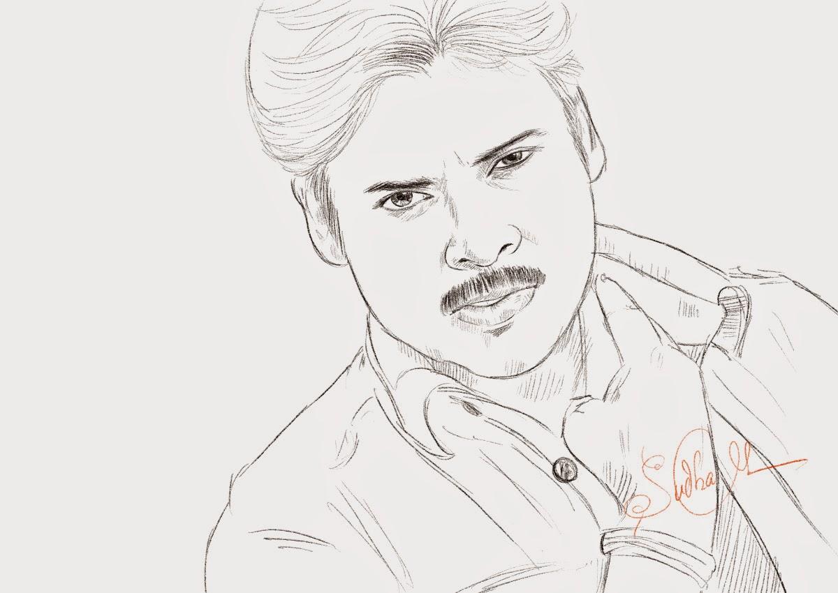 Pawan kalyan tollywood hero drawing from gabbar singh