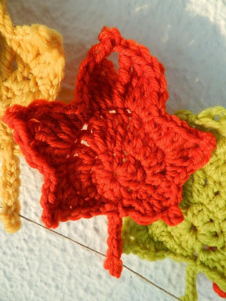 Hoja en crochet tutorial espanish