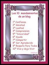 Los 10 mandamientos de mi blog