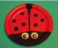 http://learningideasgradesk-8.blogspot.com/2011/08/ladybug-paper-plate-craft.html