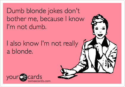 New blonde jokes 2014