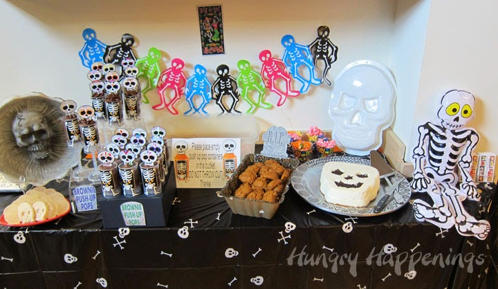 day of the dead party ideas skull shaped desserts - Day Of The Dead Halloween Decorations