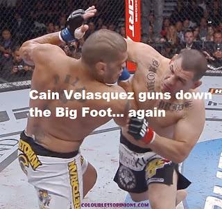 Cain Velasquez UFC160 knockout punch vs Antonio Big Foot Silva