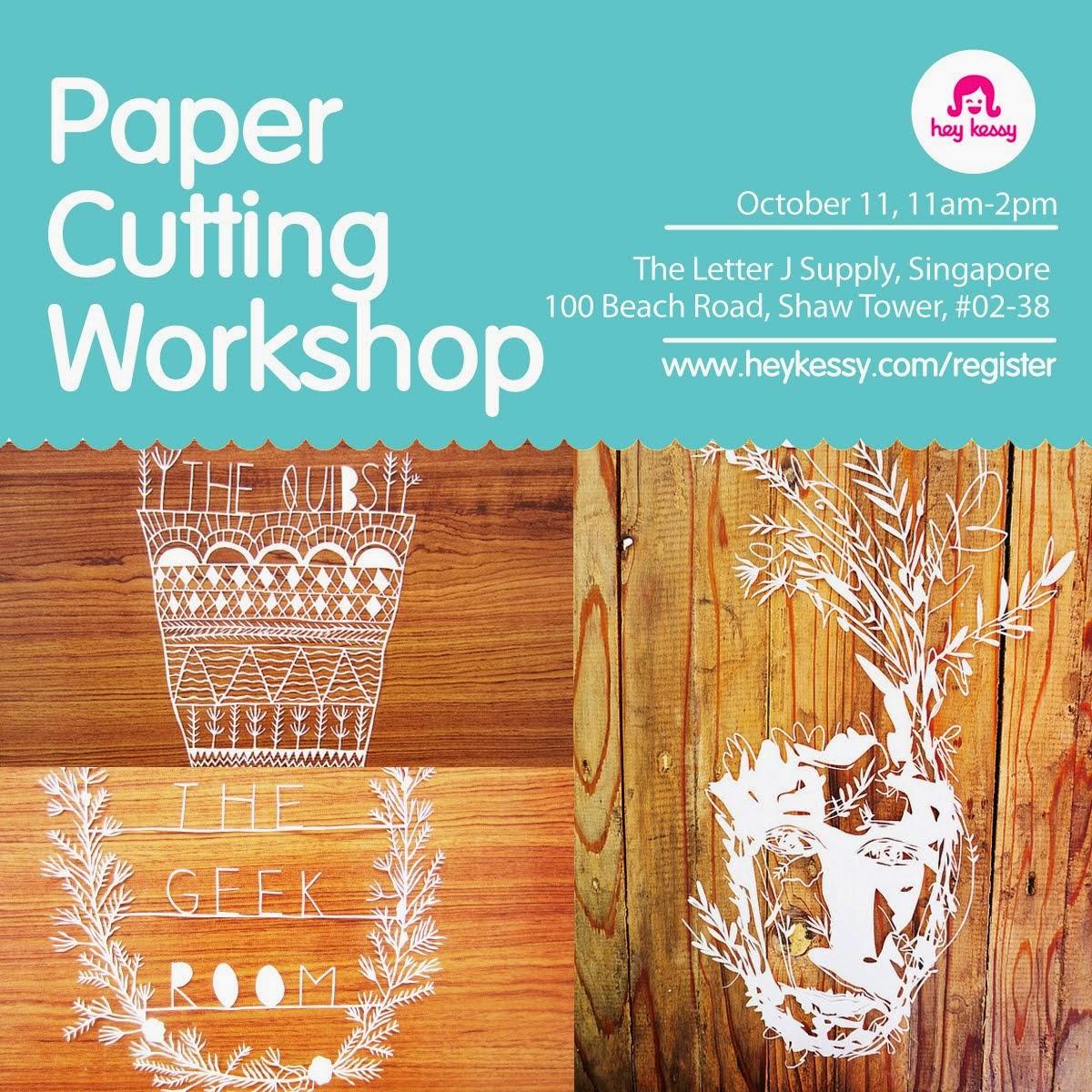 Papercutting Workshop in SG! :)