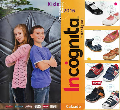 calzado infantil 2016 incognita pv