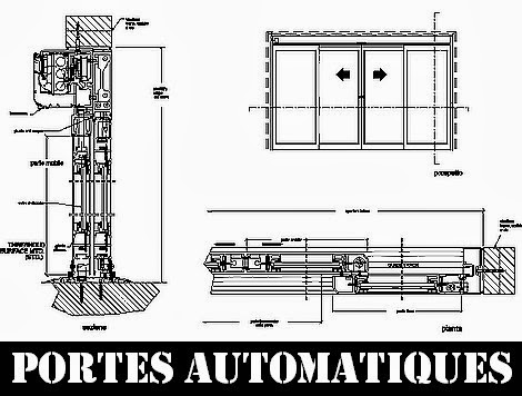Portes automatiques coulissantes d tail sous forme de for Fenetre zoom autocad