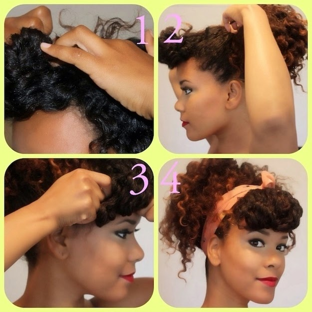 Scarf with Natural Hair