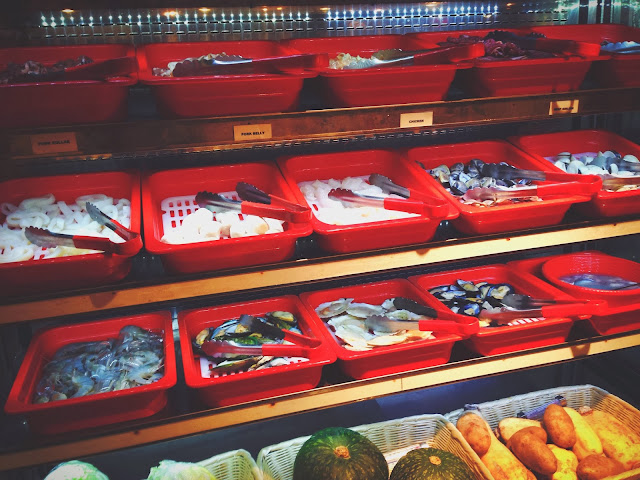 Meat and Seafood Selection at Mara Shabu Pasarbella