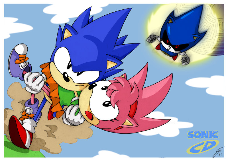 how to draw sonic in sonic cd