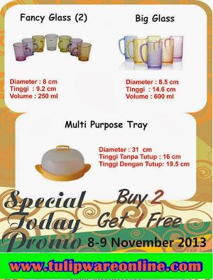 Tulipware Promo Untuk 8 dan 9 November 2013
