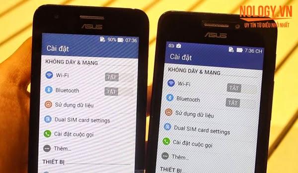 So sánh Asus Zenfone C và Asus Zenfone 4 A450.