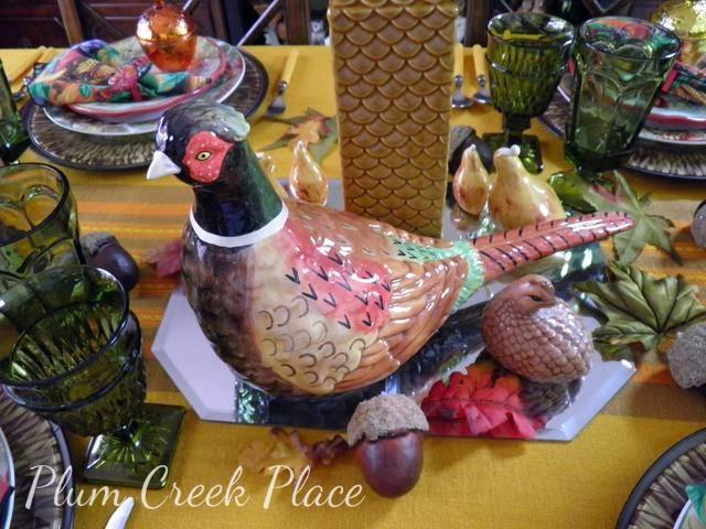 Pheasant tablescape