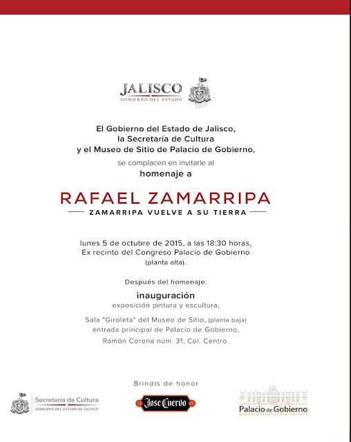 Homenaje Rafael Zamarripa, obra plástica