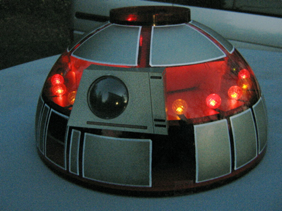 Meerkat Six Star Wars 1981 Jetta Art Car - JR-T7 at Night