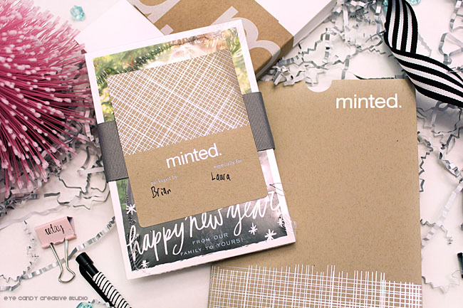 packaging, branding, minted, black and white, silver foil design