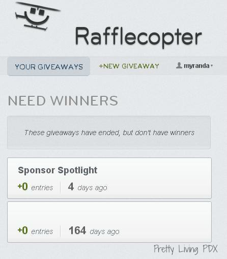 Rafflecopter giveaways low entries