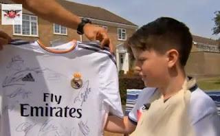 Patah tangan karena tendangan Ronaldo, anak 11 tahun malah senang