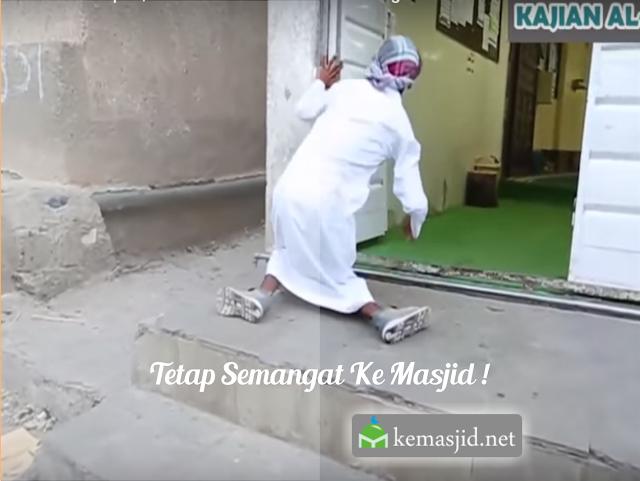semangat ke masjid, kemasjid, memakmurkan masjid, Kamal, cacat, shalat berjamaah