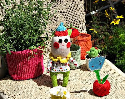 poupée de créateur artdoll fait main handmade julie adore jardin lavande