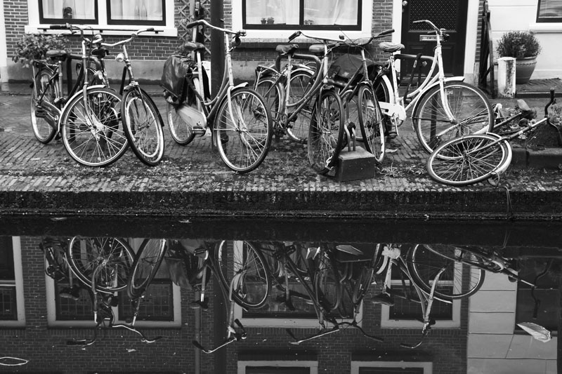 bicycle channel Amsterdam Delft Holland
