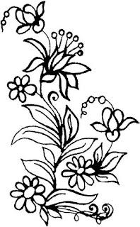 Risco para pintura de Flores