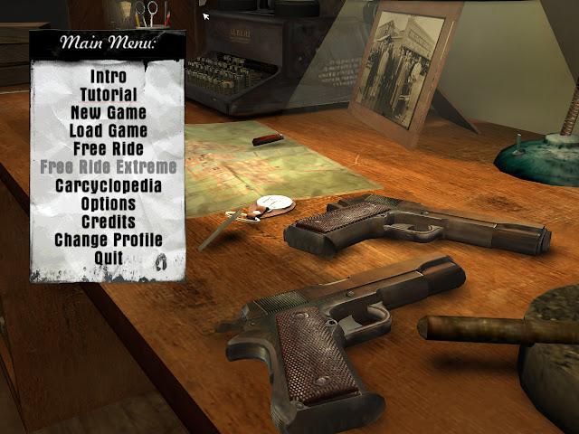 Mafia main menu screen