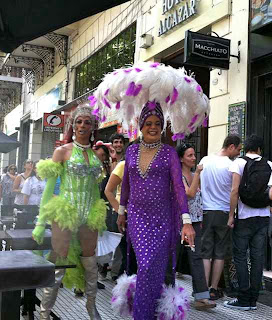 We caught these gorgeous people on their way to the Gay Pride celebration one Saturday afternoon.