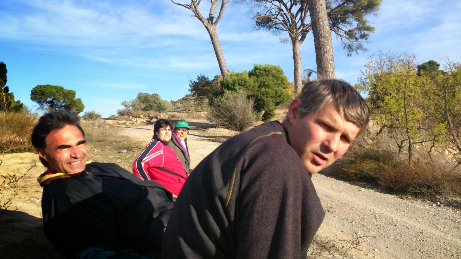 Una part del grup fent un descans