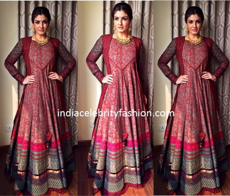 Raveena Tandon in Floor Length Anarkali