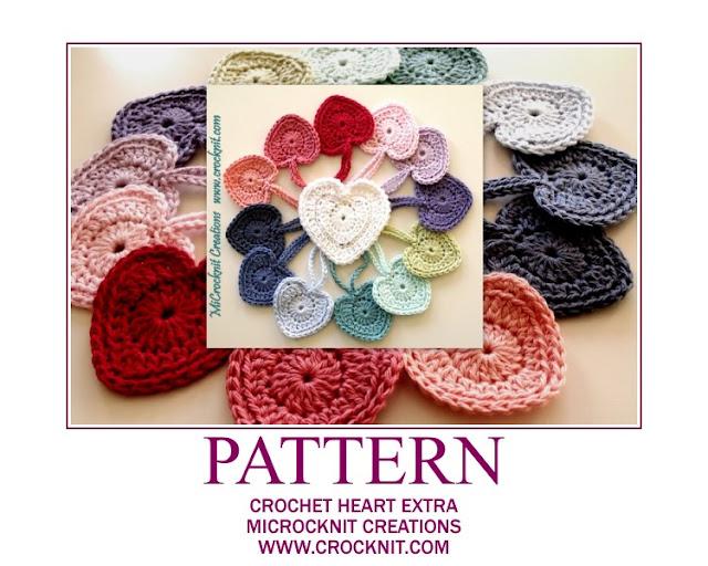 crochet patterns, hearts, heart motifs, heart garland, heart bunting,