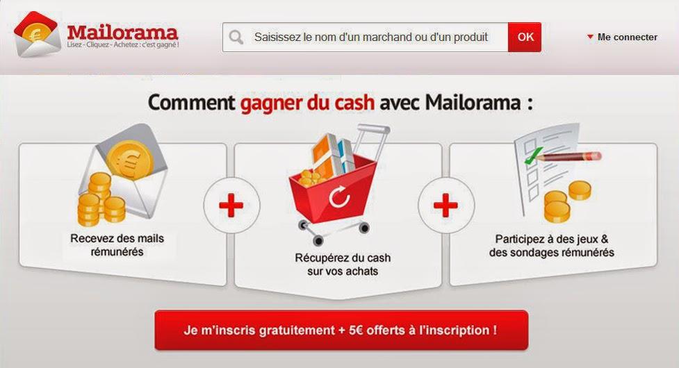 Gagner des euros avec le Cashback Mailorama