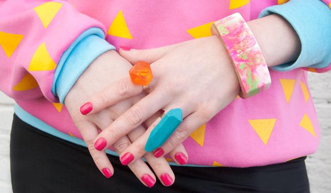 Serena Kuhl, resin jewellery, made in australia