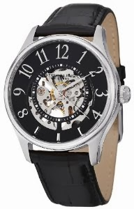 Stuhrling Original Men's 746L.SET.02 Delphi Solaris Automatic Skeleton Black Watch with Additional Strap