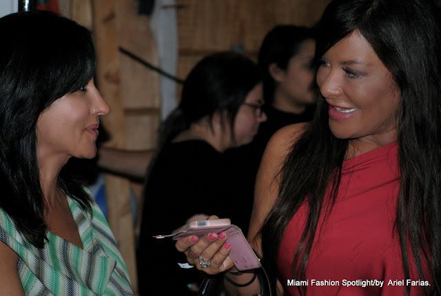 Designer Sinesia Karol and Diana Laura at SLS Hotel at Funkshion Swim Week