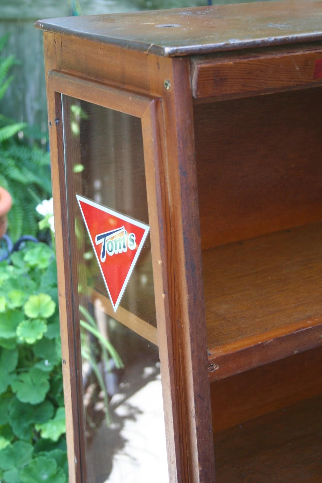 Vintage Tom's Candy Cabinet