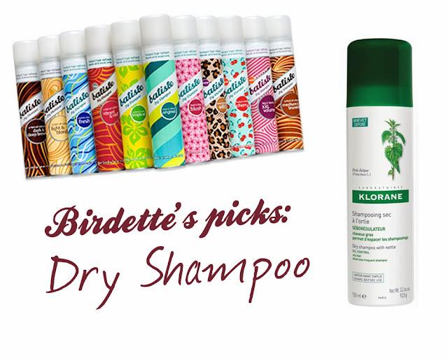 Dry shampoo varieties Batiste Klorane