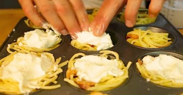 Resepi Ringkas Ramadhan - Spaghetti Cupcakes