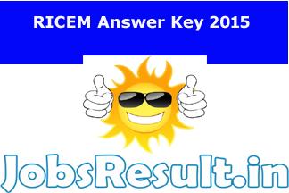 RICEM Answer Key 2015