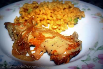 Cheesy Chicken and Onions Recipe