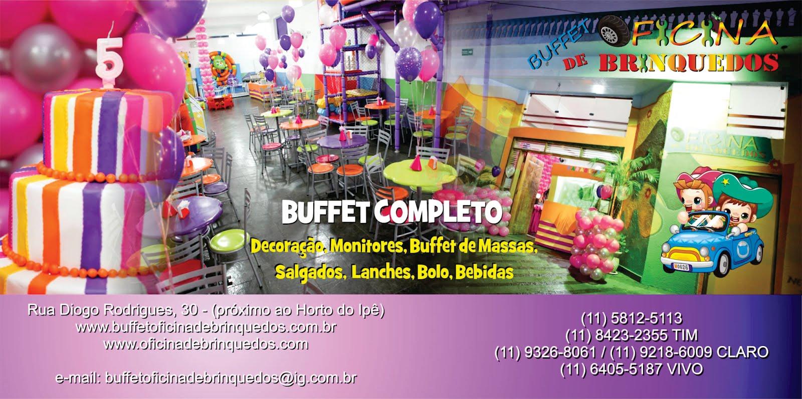 Buffet Oficina de Brinquedos