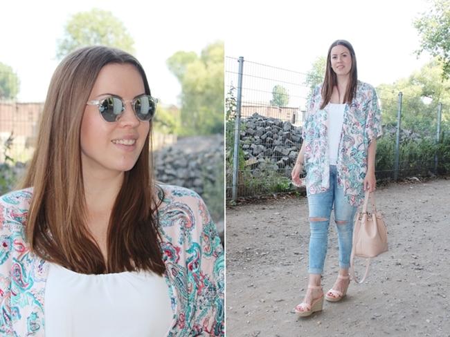 Modeblog Köln, Kimono, Kimono Trendteil, bunter Kimono